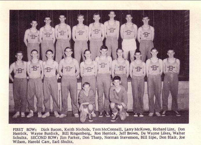 Dad in the track team (third from left in the top row)