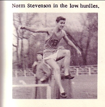 Dad doing the hurdles in track